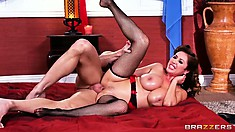 No matter what position she's being fucked, the goddess relishes every second of it