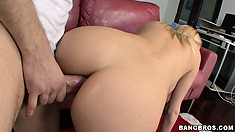 Tasting his cock was a great treat but now she wants it up the ass