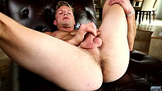 Kody has his fingers roaming around his anal hole while he keeps jerking his cock