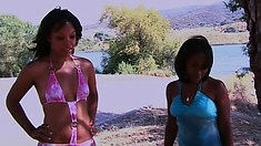 Two slutty chicks fight over a rich guy's throbbing jackhammer