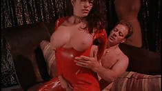 Latex babes in different scenes getting some cock in their mouths and holes