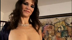 Beautiful MILF gets her asshole opened up by a throbbing cock